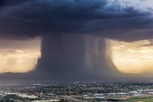A macroburst over Phoenix by Chopperguy Photographer Jerry Ferguson and Pilot Andrew Park July 18, 2016